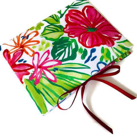 Circular Needle Case Summer Floral Outdoor Fabric