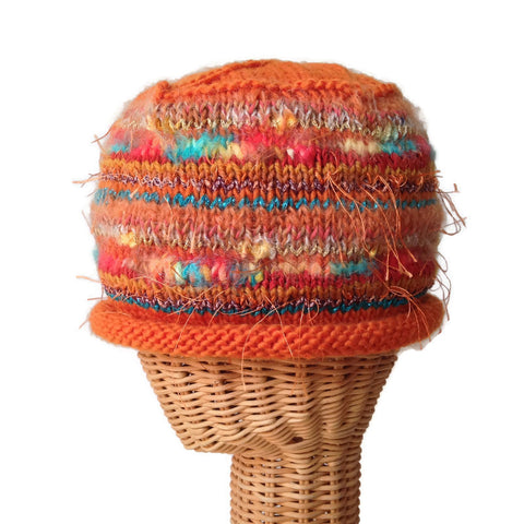 Beanie Cloche Orange FUSION - Buttermilk Cottage