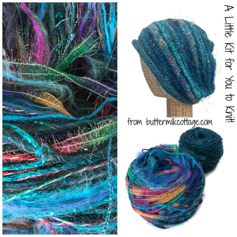 Teal FUSION Slouchy Hat Kit - Buttermilk Cottage