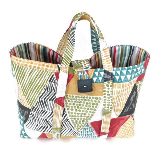 Large Knitting Bag Graphic Print Outdoor Fabric