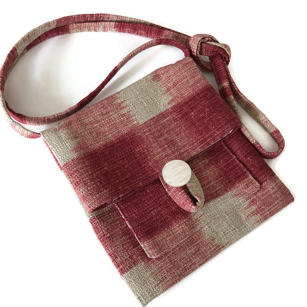 Tag Along Bag Woven Plaid