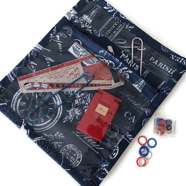 Accessory Bag Navy French Icons