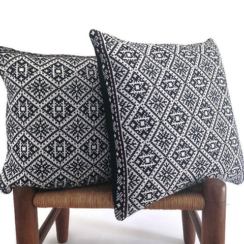 Black & White Sweater Pillow Covers, Set of 2