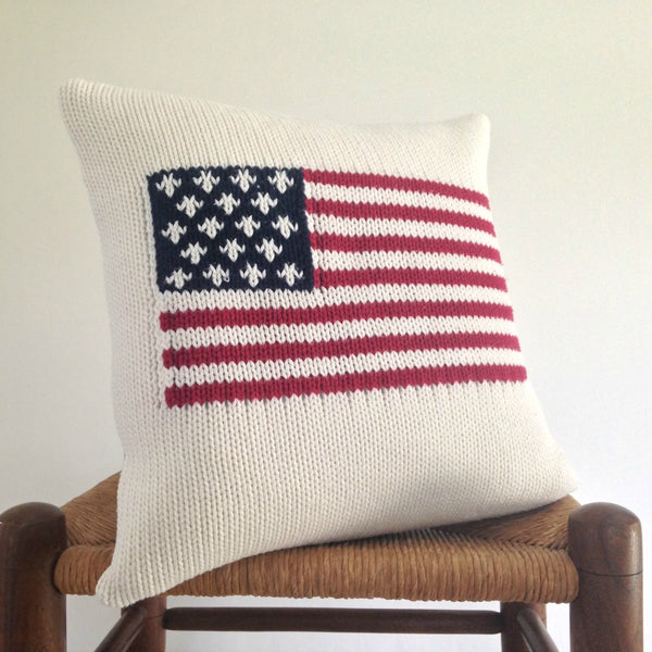 Sweater Pillow Americana Flag