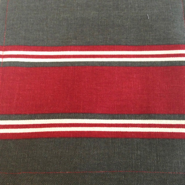 Accessory Bag Red and Brown Stripe