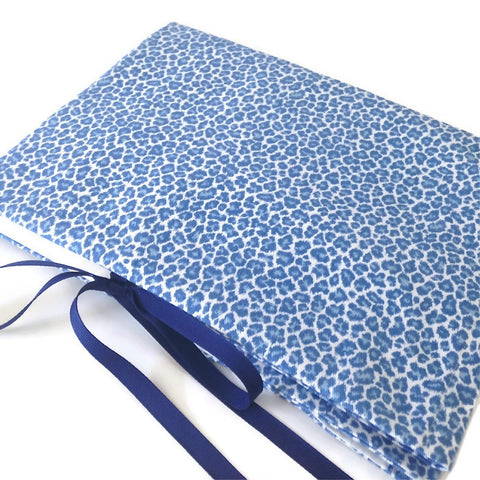Circular Needle Case Blue Faux Animal Print