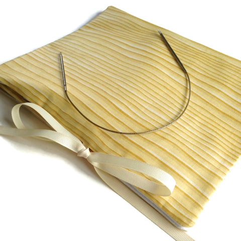 Circular Needle Case Yellow Stripe