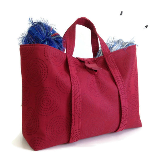 The Large Knitting Bag Red