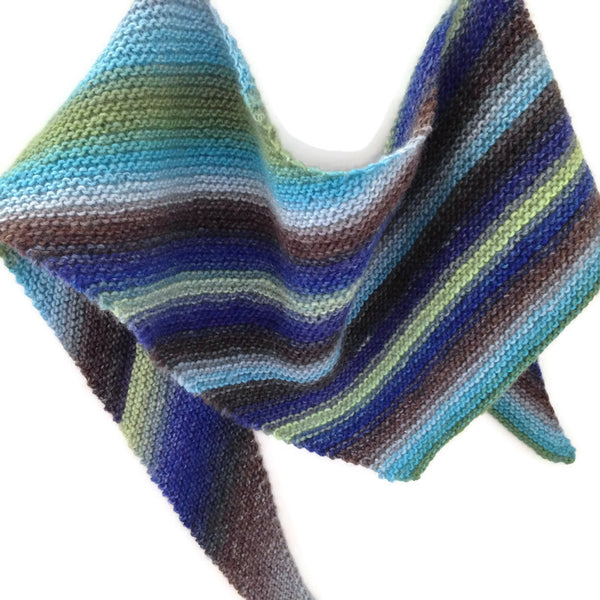 Triangular Scarf Wool Asymmetrical