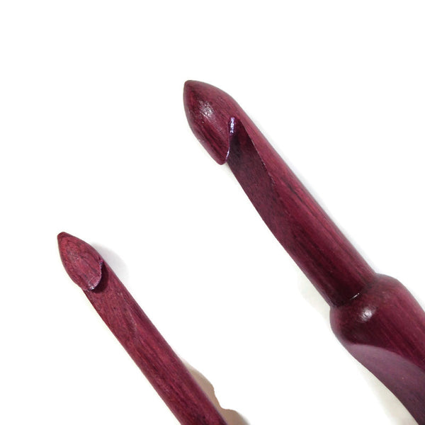 Tools Crochet Hook Size J and/or M Purple Heart Wood