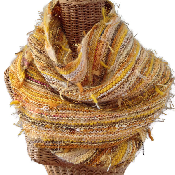 Triangular Scarf Wool Asymmetrical FUSION Gold