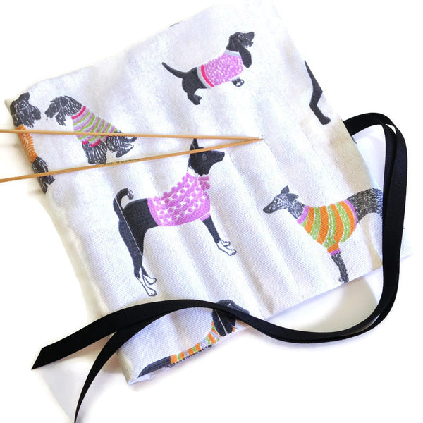 Double Point Needle Roll Up 6 Pockets Dogs Wearing Sweaters