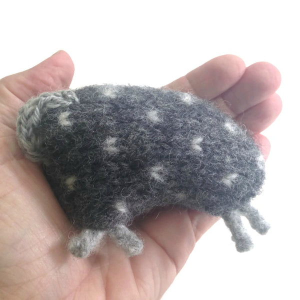 Felted Sheep Hand Warmers Gray