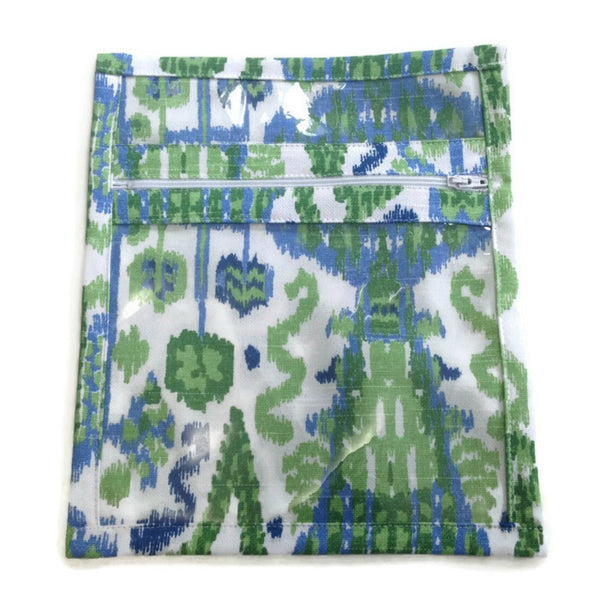 Accessory Bag Blue Green Ikat