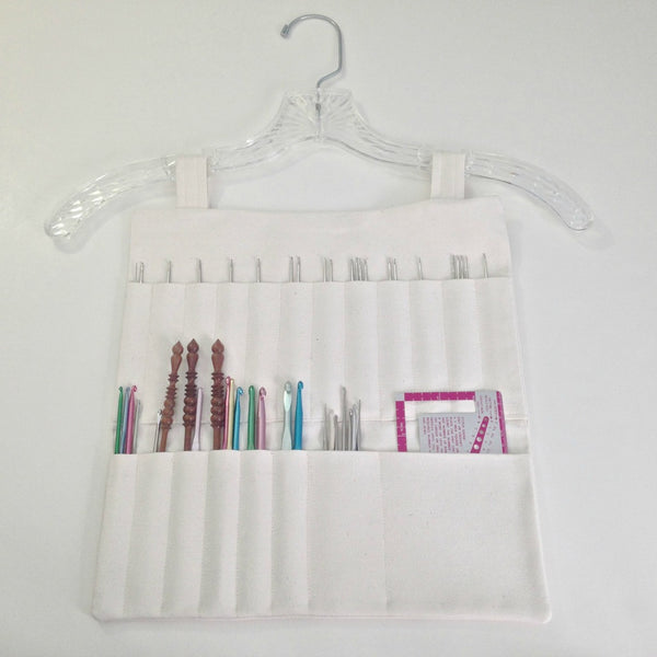 Hanging Organizer  for Crochet Hooks - Buttermilk Cottage