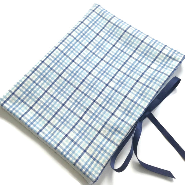 Circular Needle Case Blue Plaid