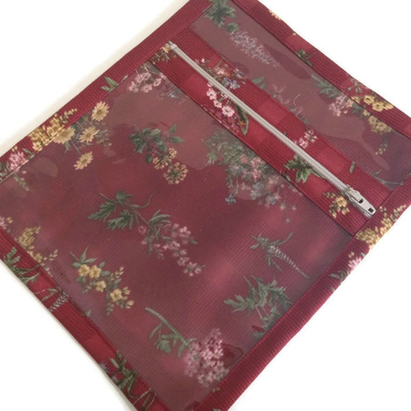 Accessory Bag Red Floral