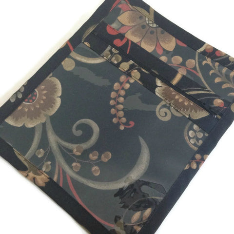 Accessory Bag Black Coral Floral