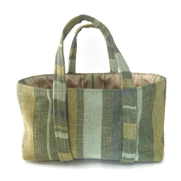 The Small Project Bag Green Stripe