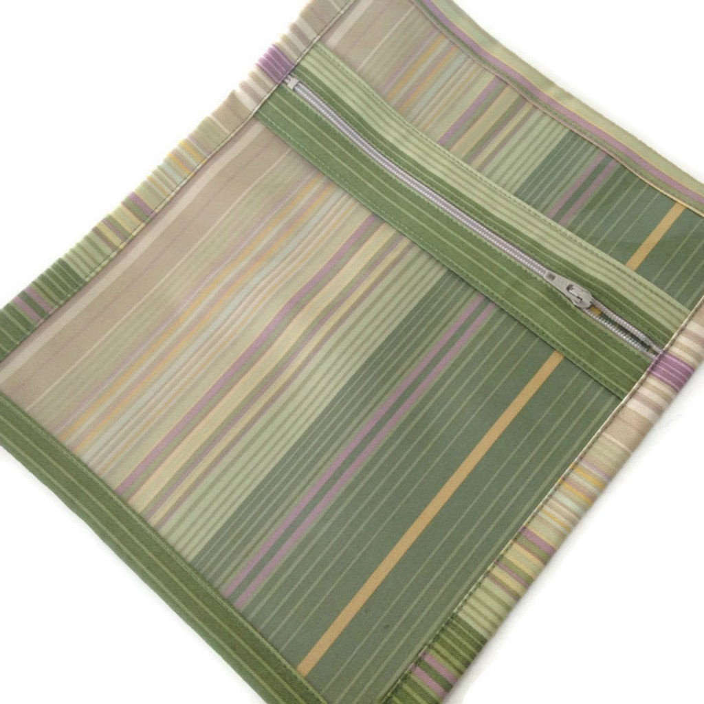 Accessory Bag Green Stripe