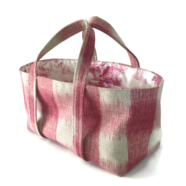 The Small Project Bag Raspberry Plaid