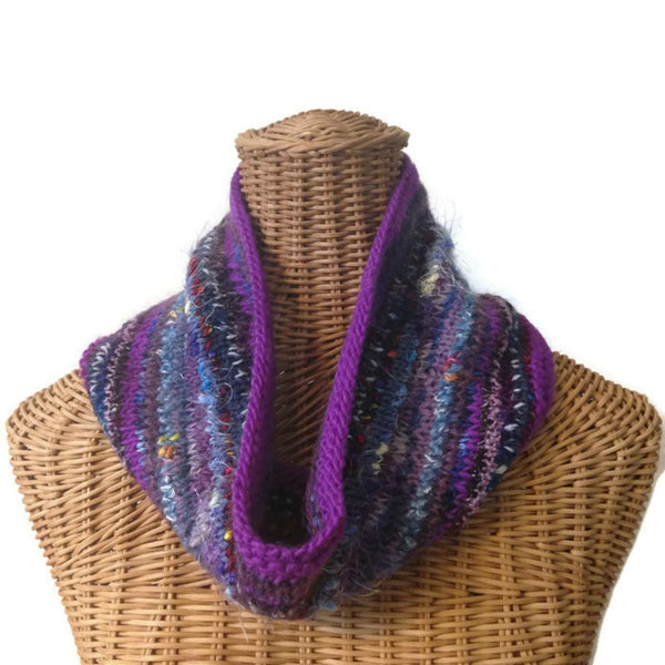 Cowl Purple Fusion - Buttermilk Cottage