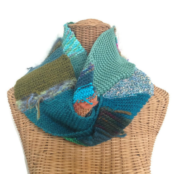Boho Style Infinity Scarf Teal
