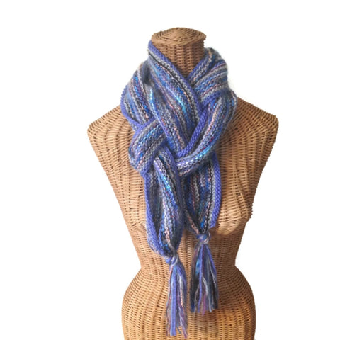 Hand Knit Scarf Periwinkle FUSION