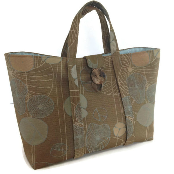 The Large Knitting Bag Brown Floral
