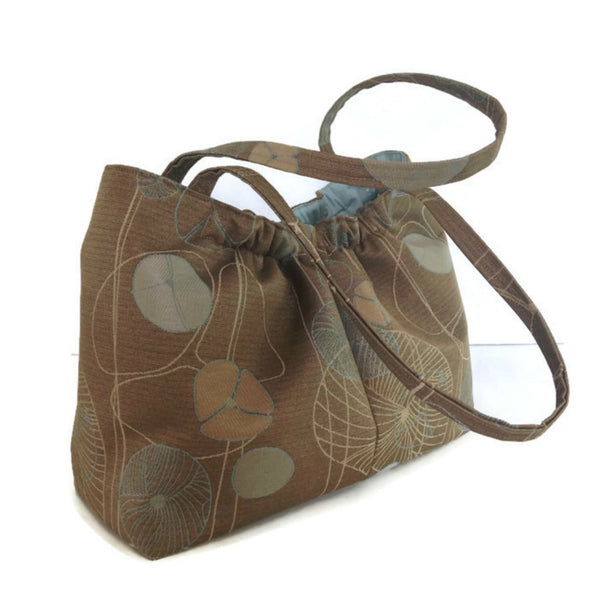 The Shoulder Knitting Bag Brown Floral