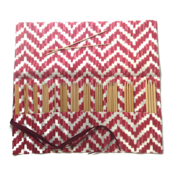 Double Point Needle Roll Up 6 or 12 Pockets Red Chevron