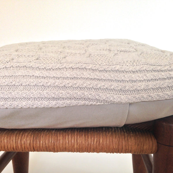 Sweater Pillow  Beige Cables