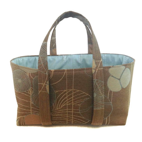 The Small Project Bag Brown Floral