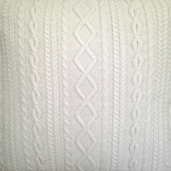 Sweater Pillow Set Winter White