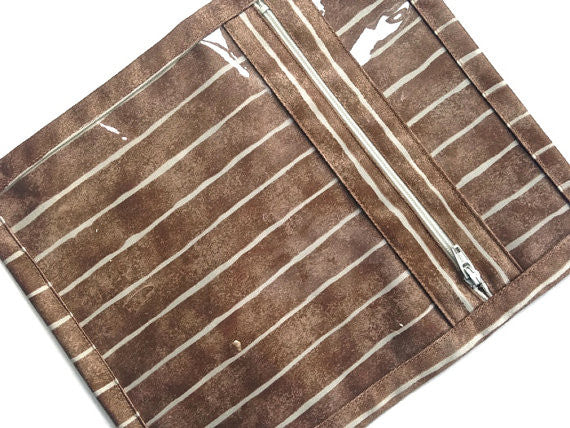 Accessory Bag Brown Stripe - Buttermilk Cottage - 1