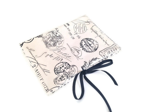 Circular Needle Case Black French Fabric - Buttermilk Cottage - 1