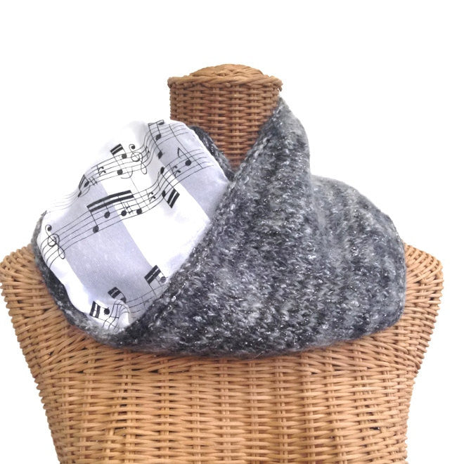 Reversible Cowl Musical Notes - Buttermilk Cottage - 1