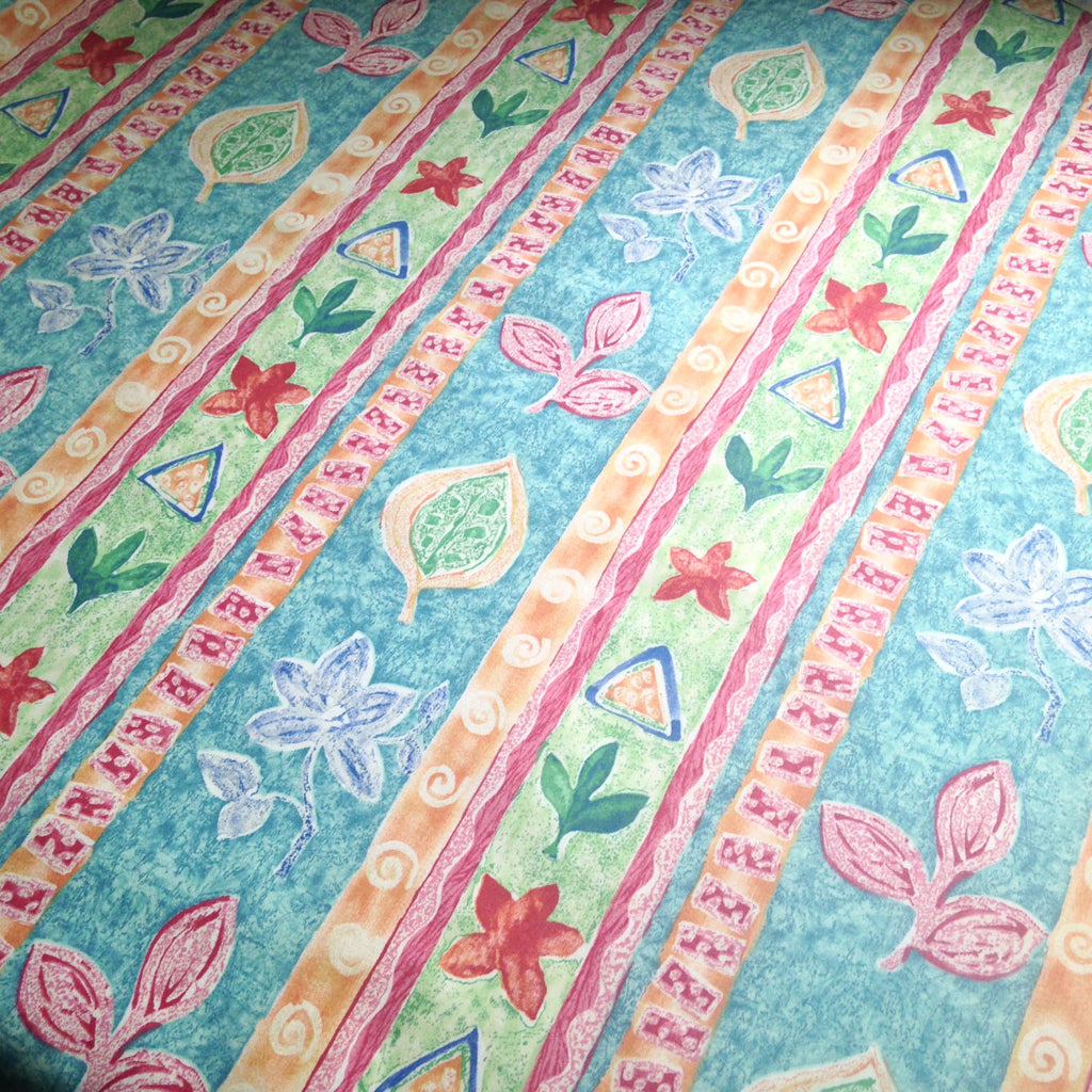 Fabric Abstract Floral Fuchsia Turquoise - Buttermilk Cottage - 1