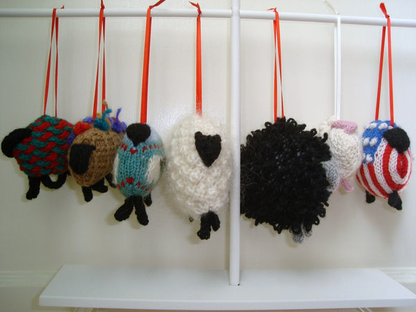 Sheep Ornament Knitting Kit Lamb Ornament Knit Kit Wool - Buttermilk Cottage - 4