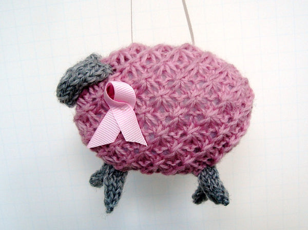 "Sheep Ornament Knitting Kit ""Pinky, Pretty Pink Ewe"" - Buttermilk Cottage - 3"