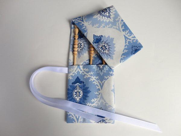 Crochet Hooks for Knitters Blue Floral - Buttermilk Cottage - 2
