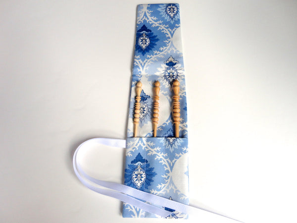 Crochet Hooks for Knitters Blue Floral - Buttermilk Cottage