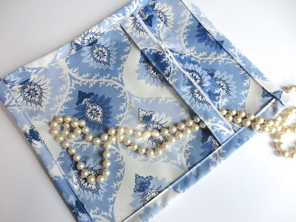 Accessory Bag Blue and White - Buttermilk Cottage - 2
