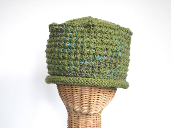 Bucket Hat Rolled Brim Green - Buttermilk Cottage - 2