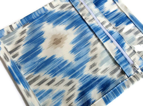 Accessory Bag in Blue Ikat - Buttermilk Cottage - 1
