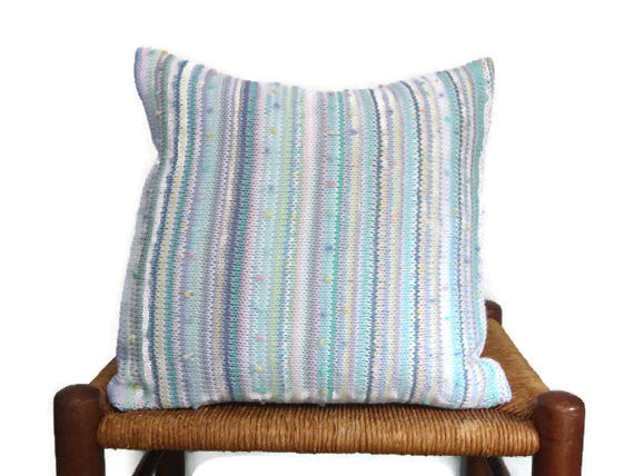 Sweater Pillow Single Pastel Knit - Buttermilk Cottage