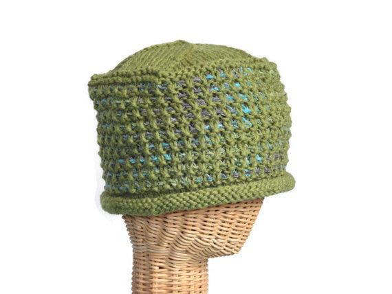 Bucket Hat Rolled Brim Green - Buttermilk Cottage