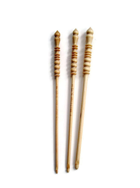 Crochet Hooks for Knitters Blue Faux Animal Print - Buttermilk Cottage - 4