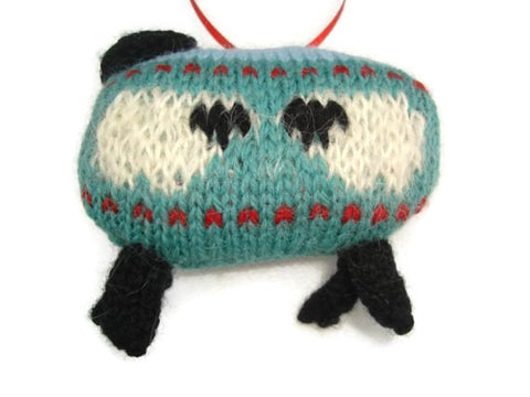 "Hand Knit Sheep Ornament ""Sheep in the Meadow"" - Buttermilk Cottage - 1"