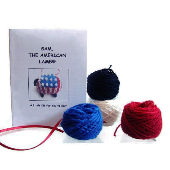 "Hand Knit Sheep Ornament ""Sam, the American Lamb"" - Buttermilk Cottage - 3"
